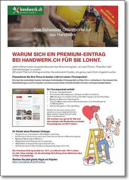 Handwerkch Das Schweizer Onlineportal Für Das Handwerk
